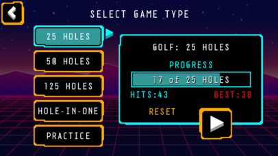 Arcade Golf: NEON screenshot 1