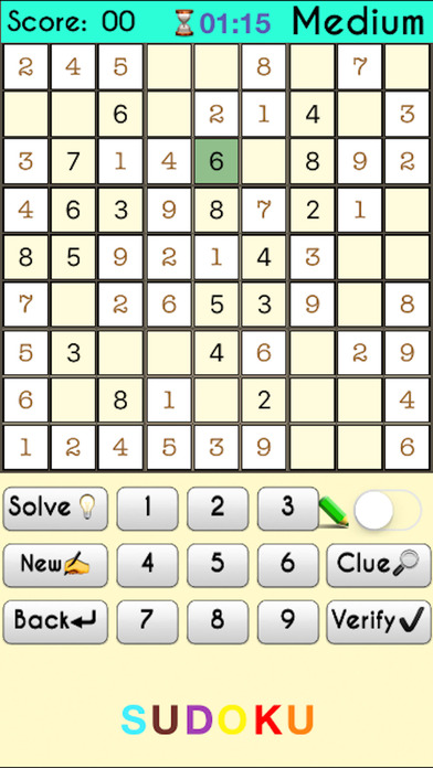 Complete Sudoku Puzzles 2- Full Featured Game screenshot 2