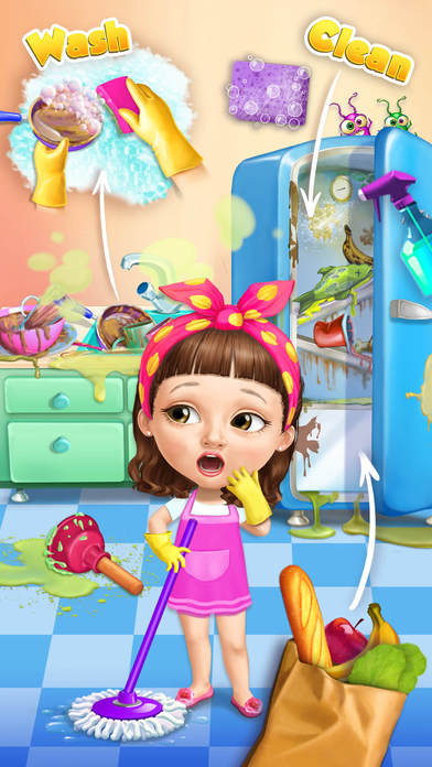 Sweet Baby Girl Cleanup 5 - No Ads screenshot 1
