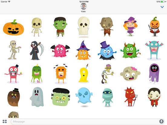 Cute Halloween Monsters Stickerpack screenshot 3