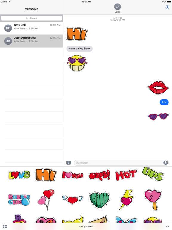 Fancy Pack - 90+ Beautiful Stickers screenshot 7