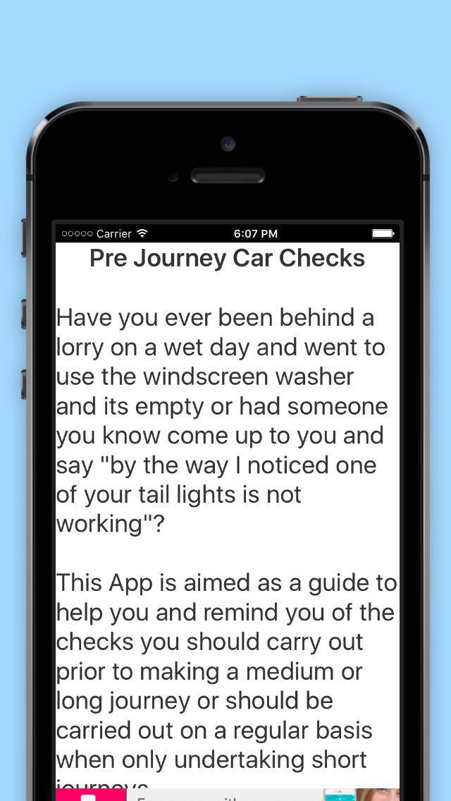 Pre Journey Car Checks screenshot 4