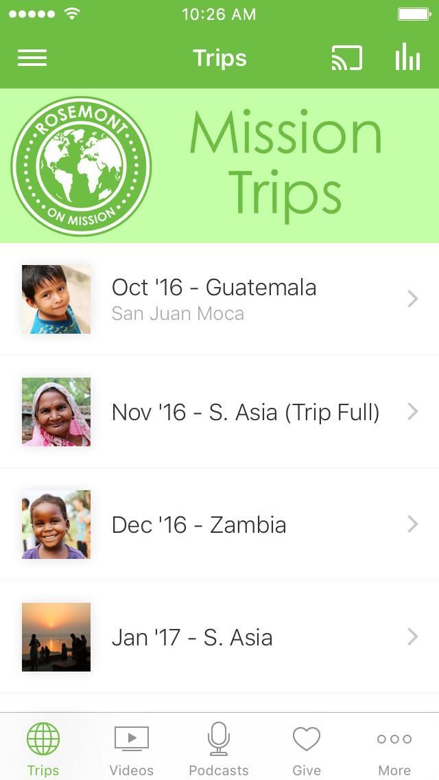 Rosemont Missions App screenshot 1