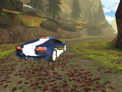 3D Off-Road Police Car Racing  - eXtreme Dirt Road Wanted Pursuit Game FREE screenshot 7