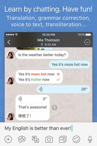 HelloTalk Language Exchange Learning App - náhled