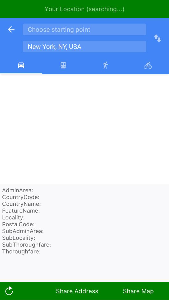 Send your location screenshot 3