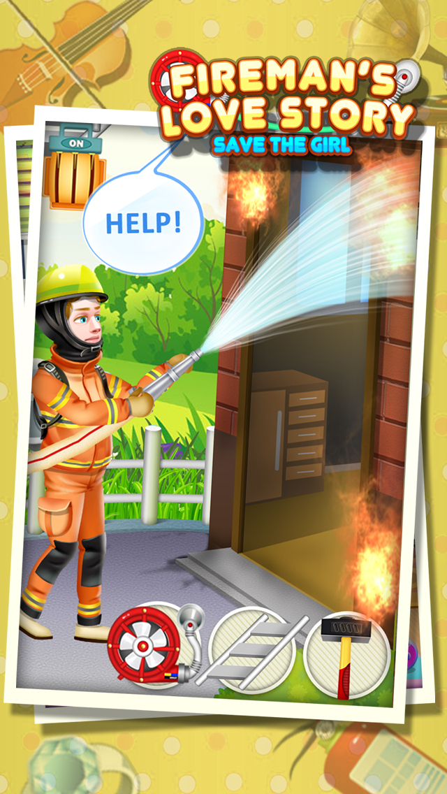 Fireman's Love Story - Rescue Game FREE screenshot 2