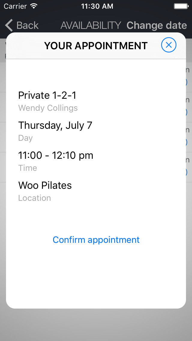 Woo Pilates screenshot 2