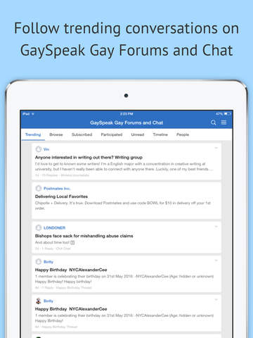 GaySpeak Gay Forums and Chat screenshot 5
