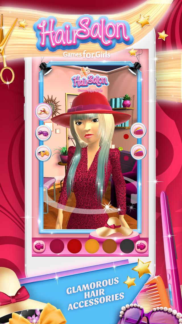 Hair Salon Games for Girls 3D Virtual Hairstyle.s