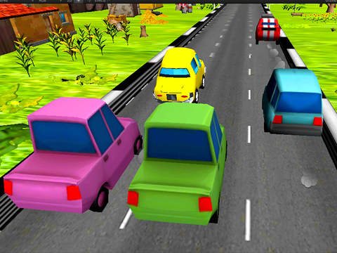 Extreme Toon Race : Craziest Car Driver Game screenshot 6
