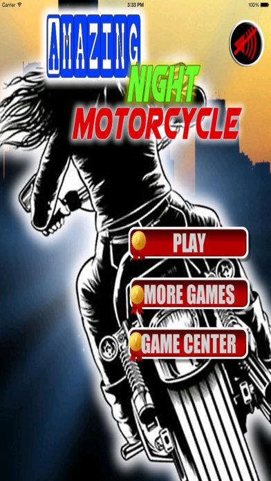 Amazing Night Motorcycle PRO - Bike Game screenshot 1