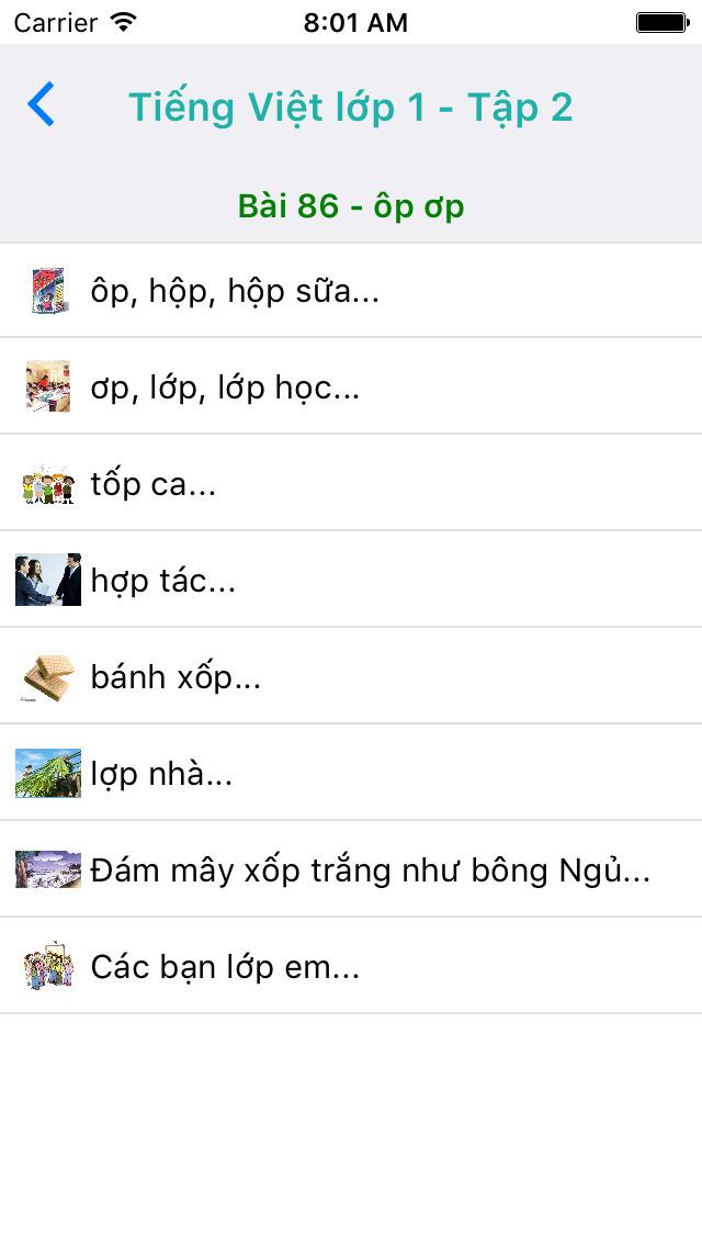 Tieng Viet Lop 1 - Tap 2 screenshot 4