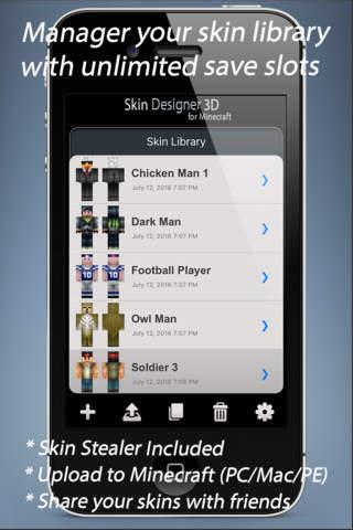 Skin Designer 3D for Minecraft - náhled