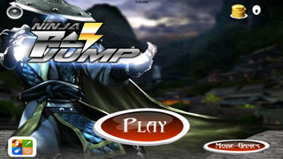 A Ninja Ray Jump HD - Jumps Of The Lords Clan Dark screenshot 1