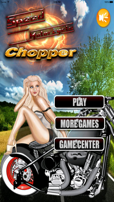 A Speed Motorcycle Chopper - Awesome Real Race screenshot 1