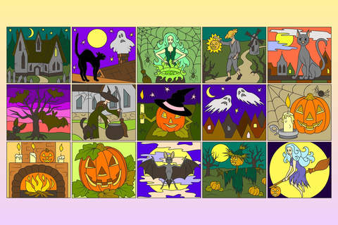 Color by Numbers - Halloween - náhled