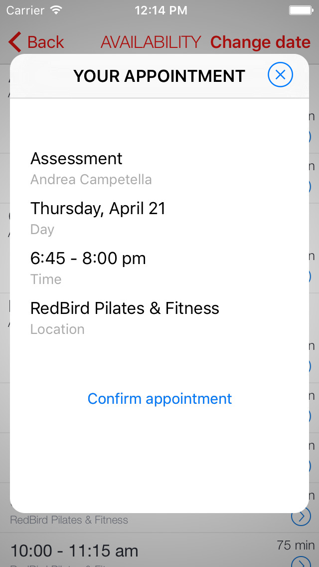 RedBird Fitness screenshot 2