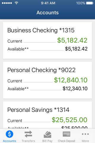 Evansville Federal Credit Union Mobile Banking - náhled