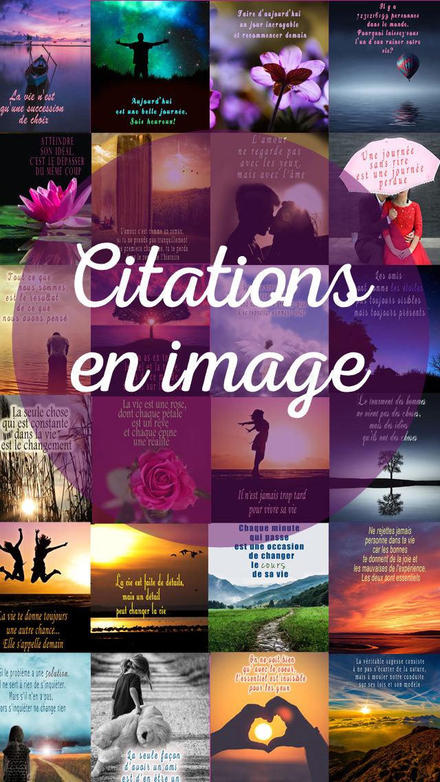 Citations en image - Belles phrases sur la vie & leçons de sagesse screenshot 1