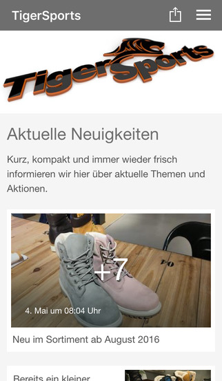 TigerSports.de screenshot 1