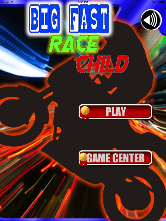Big Fast Race Child - Crazy Game Road Bike screenshot 6