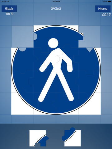 Traffic Signs Puzzle screenshot 9