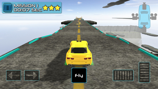3D Flying Car Parking Simulator: eXtreme Racing, Driving and Flight Game Free screenshot 2