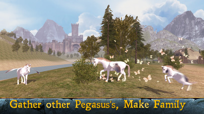 Flying Pegasus: Magic Horse Simulator 3D screenshot 2