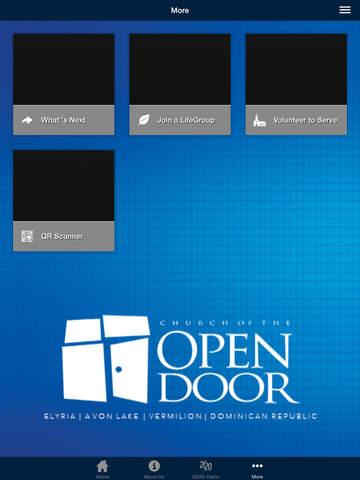 Church of the Open Door App - náhled