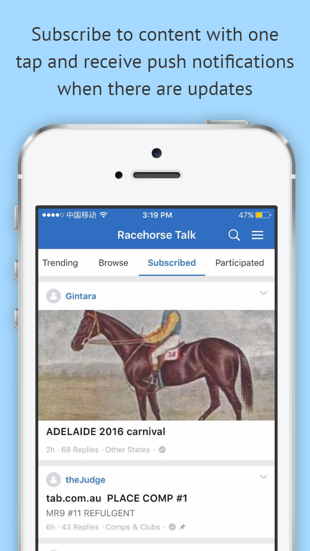 RacehorseTALK screenshot 4