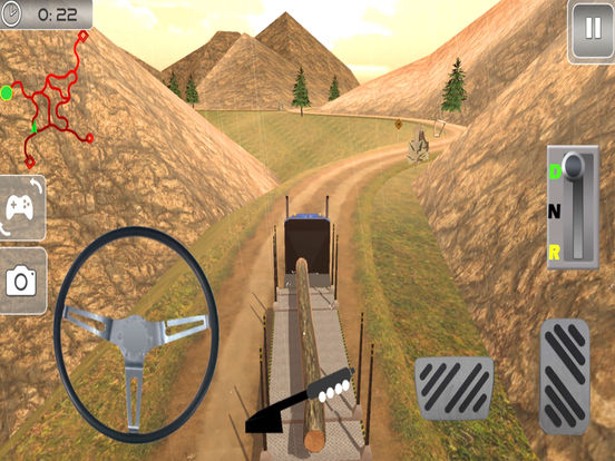Off-Road Cargo Trailer : Heavy Vehicle Tran-sport screenshot 4