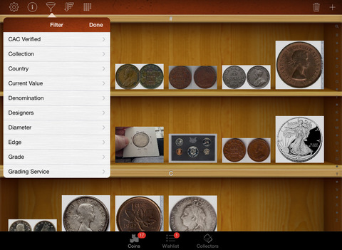 Coin Collectors for iPad - náhled