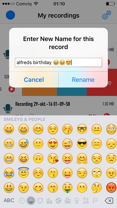 Recordio - Record voices screenshot 1