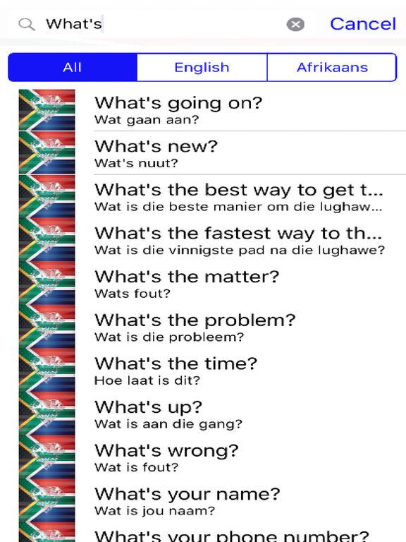 Afrikaans Phrases Diamond 4K Edition screenshot 5