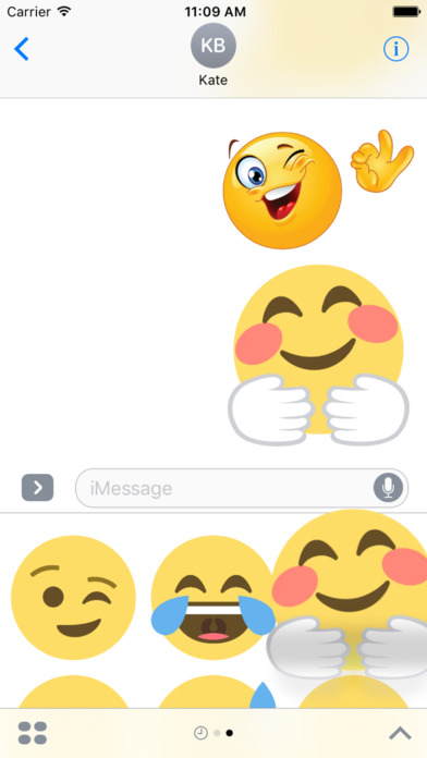 Emoticons Bundle Stickers iMessage Edition screenshot 5