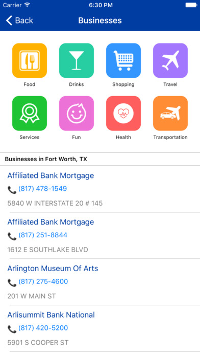 i4fortworth - Fort Worth Hotels & Yellow Pages screenshot 4