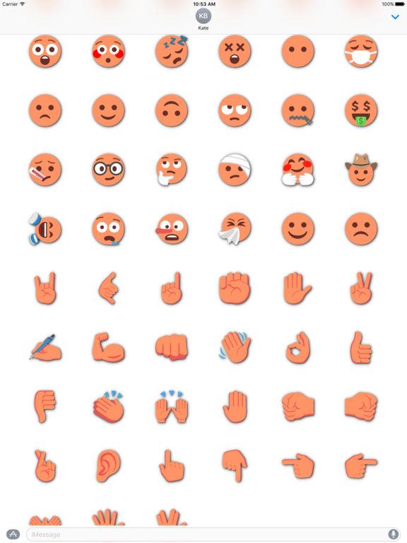 ORANGE Emoji • Stickers screenshot 7