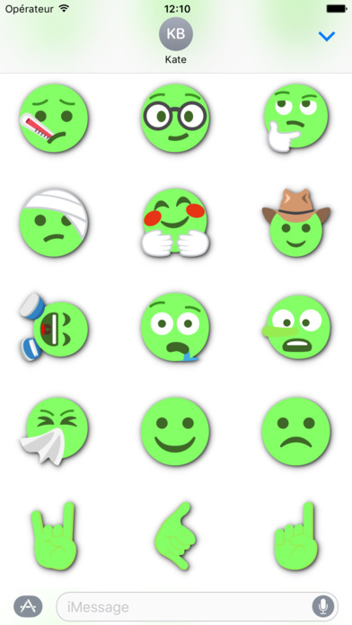 GREEN Emoji • Stickers screenshot 5