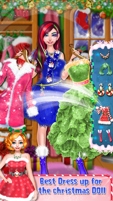 Christmas Doll Makeover Salon screenshot 5