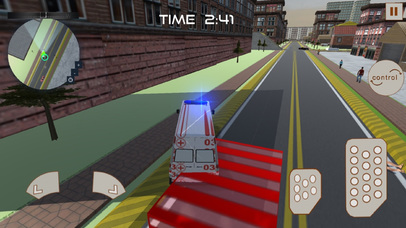 Ambulance Rescue : 3D Simulation Game 2016 screenshot 2
