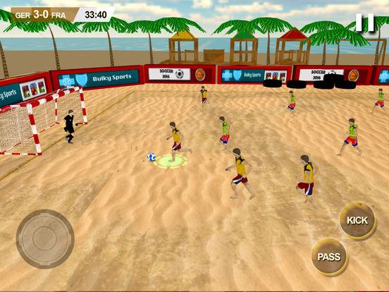 Beach Soccer 2k17 - ultimate mobile soccer hero 3D screenshot 10
