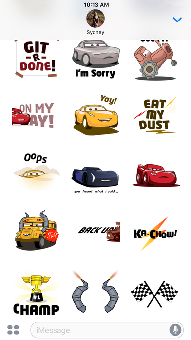 Pixar Stickers: Cars 3 screenshot 5