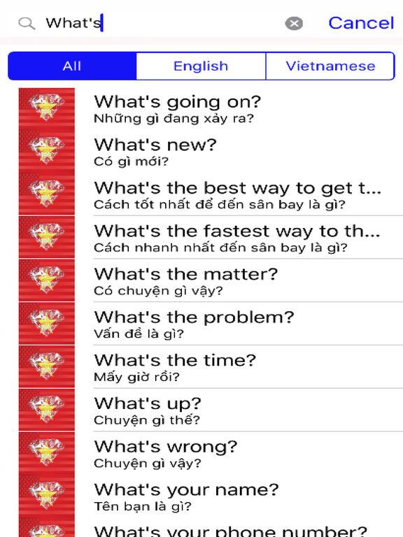 Vietnamese Phrases Diamond 4K Edition screenshot 5