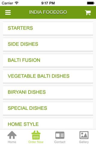 India Food2Go - náhled