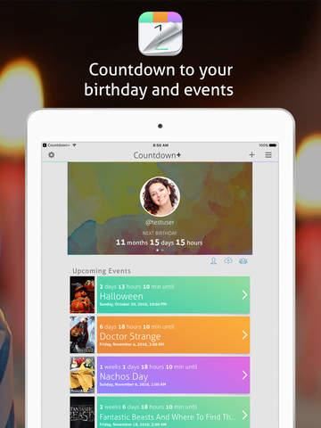 Countdown+ Lite Social & Calendar Events - náhled