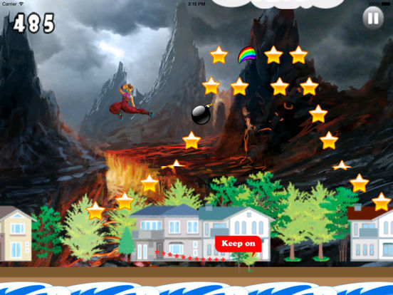 Cool Warrior Big Volcano PRO - Mega Game Jumps screenshot 9