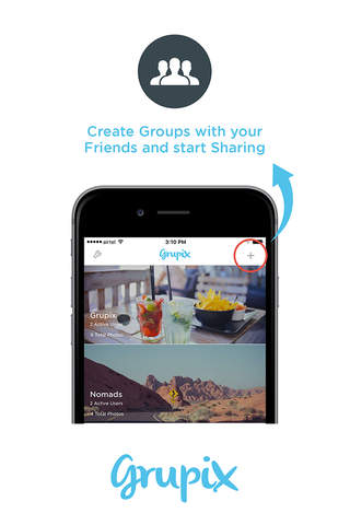 Grupix - Picture Sharing in Groups - náhled