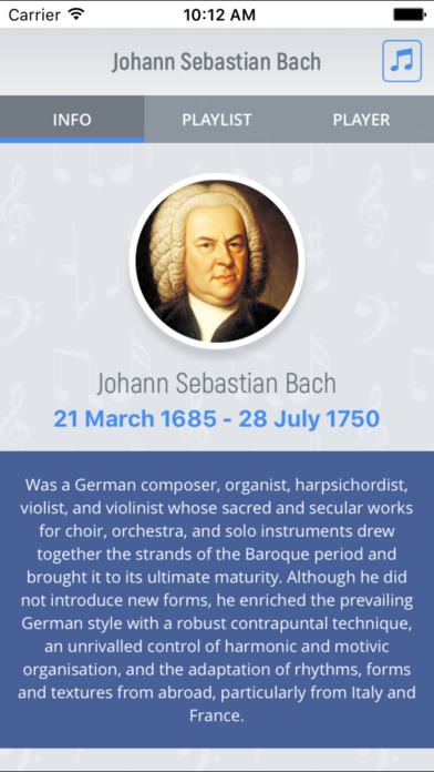 Johann Bach - Classical Music screenshot 1