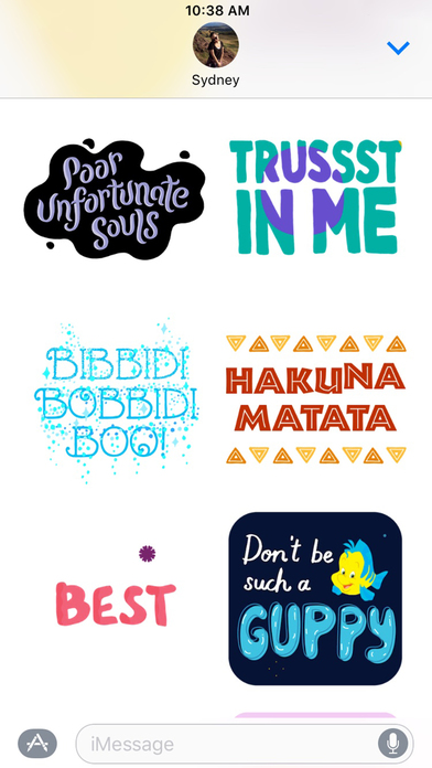 Disney Stickers: Quotes screenshot 3